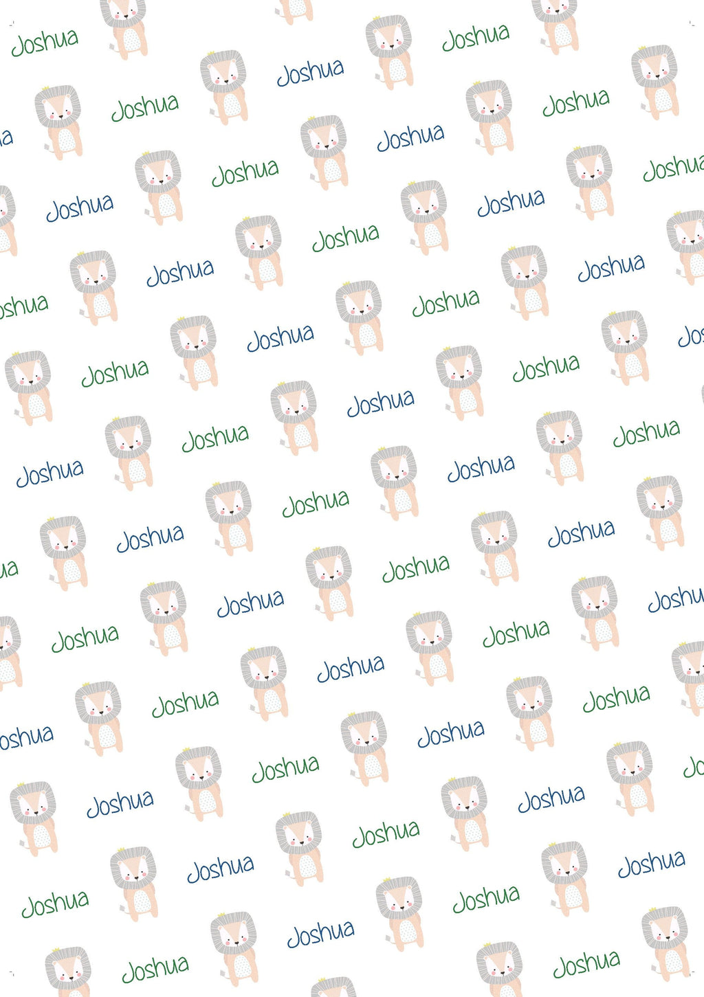 Lion Personalized Baby Shower Gift Wrap - Potter's Printing