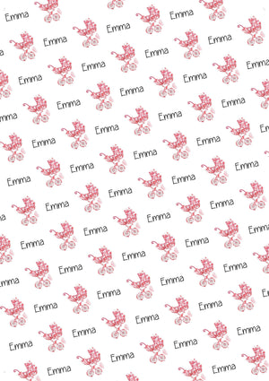 Baby Stroller Personalized Baby Shower Gift Wrap - Potter's Printing