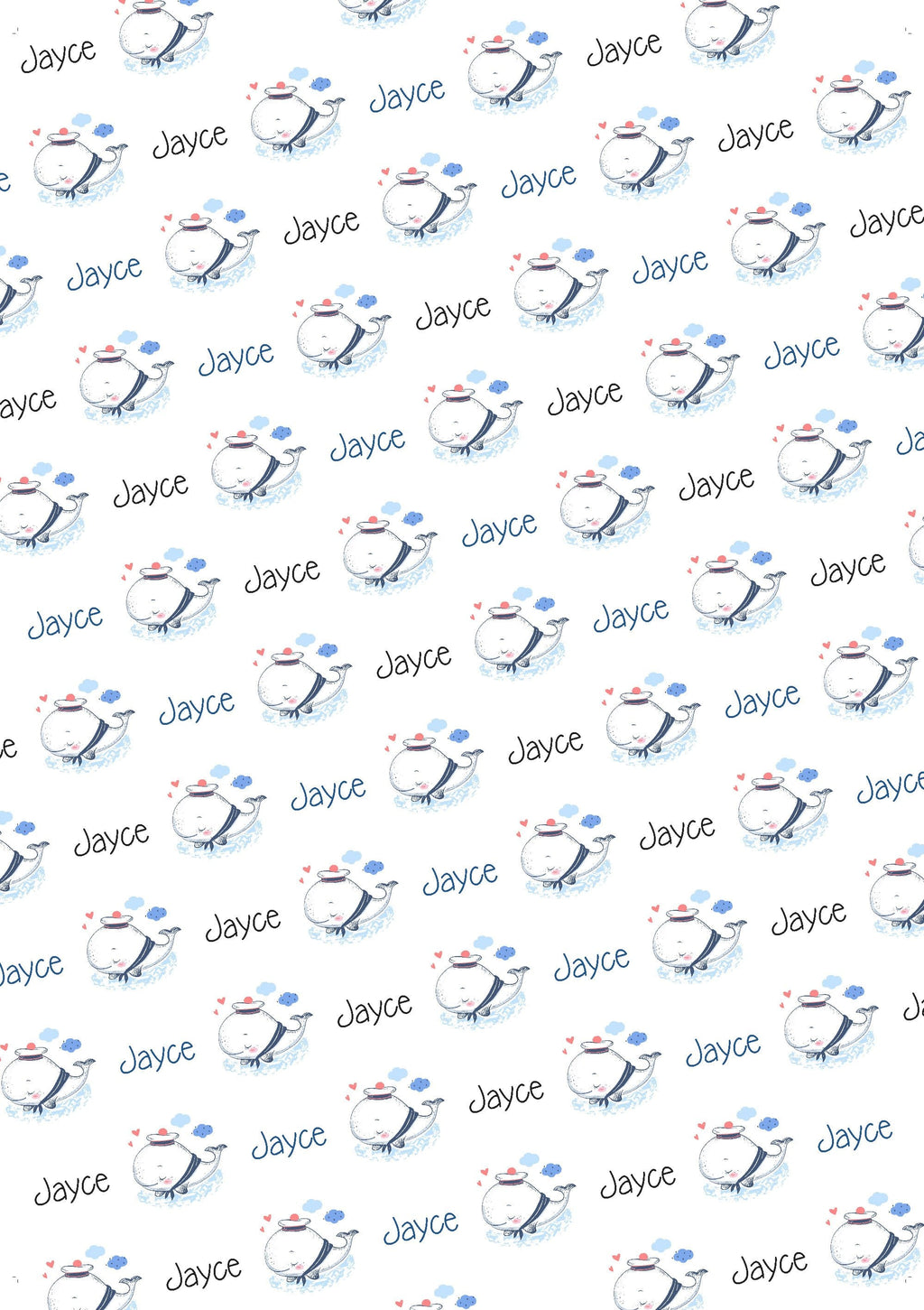 Baby Whale Personalized Baby Shower Gift Wrap - Potter's Printing