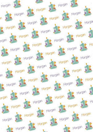 1st Birthday Zoo Animals Personalized Birthday Gift Wrap