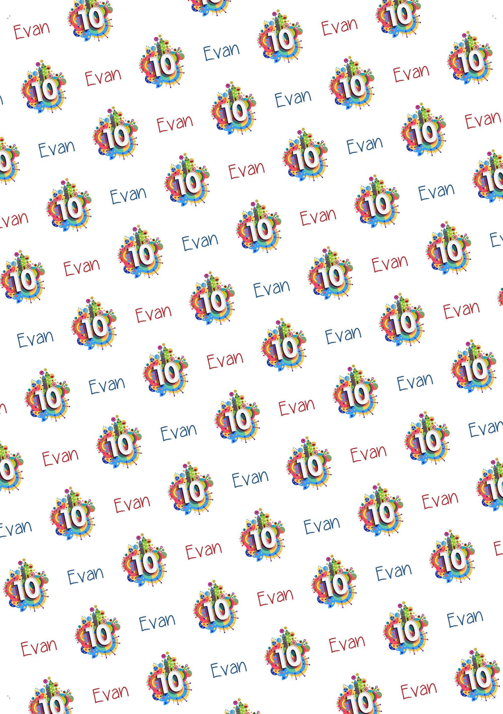 10th Birthday Personalized Birthday Gift Wrap - Potter's Printing