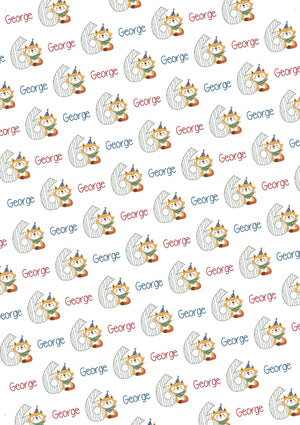 6th Birthday Fox Personalized Birthday Gift Wrap - Potter's Printing