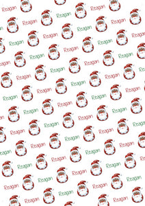 Black Santa Personalized Tissue Paper - Potter's Printing