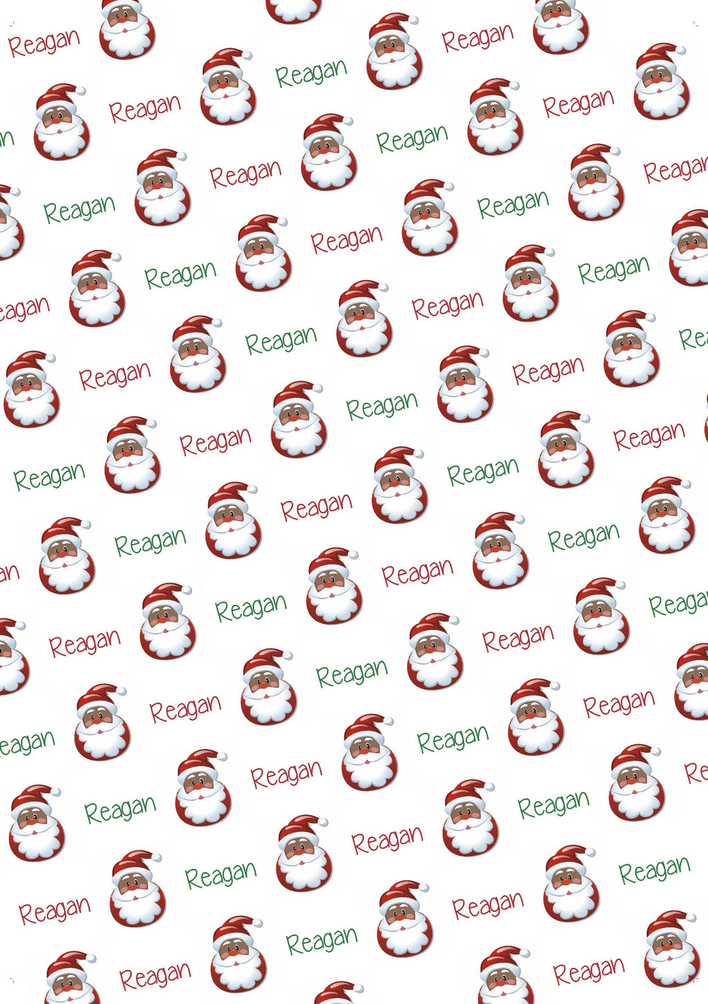 Black Santa Personalized Gift Wrap - Potter's Printing