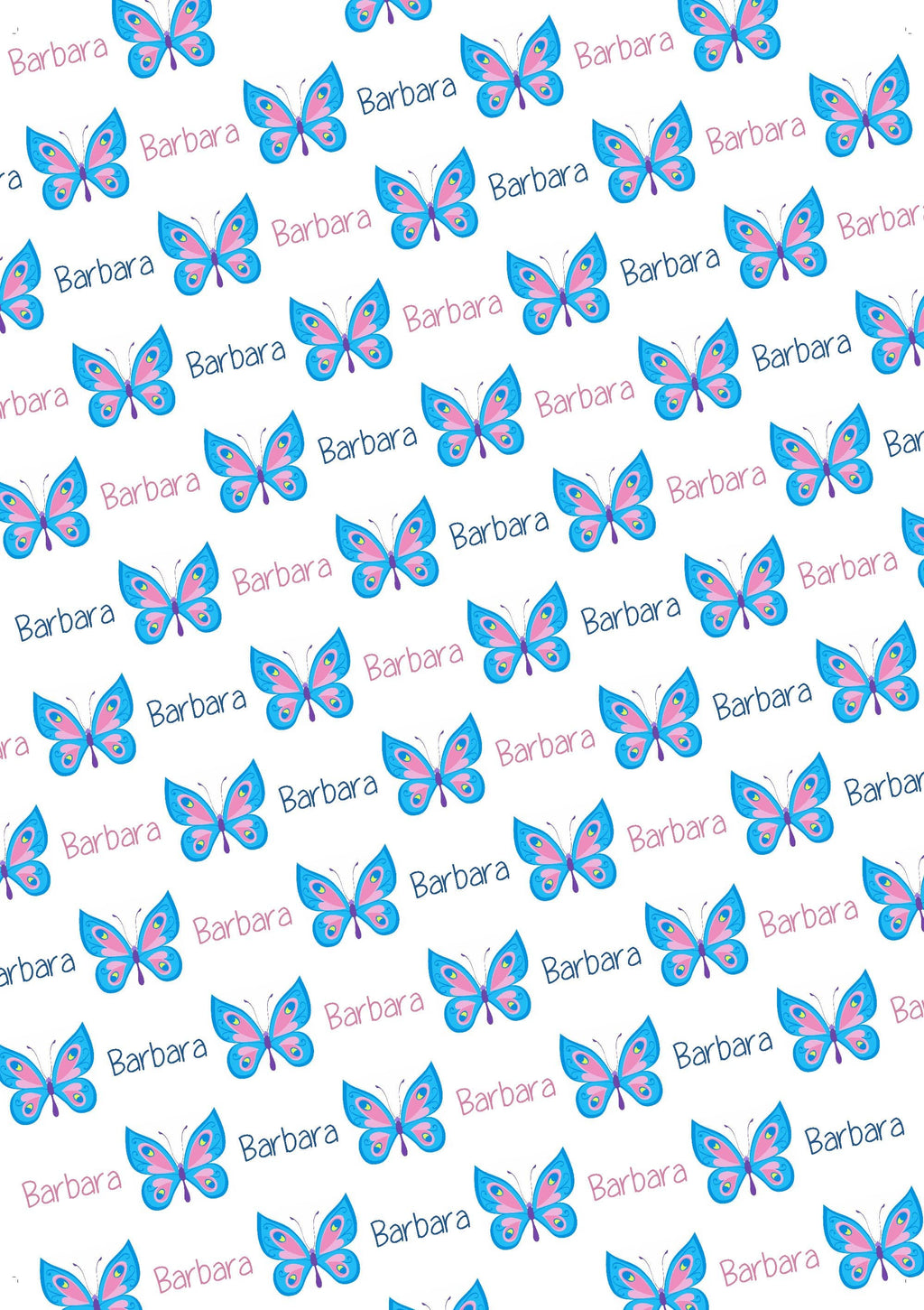 Butterfly Personalized Gift Wrap - Potter's Printing