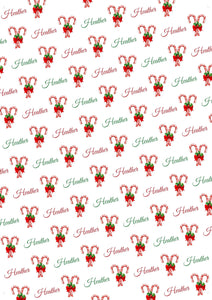 Candy Cane Personalized Christmas Gift Wrap - Potter's Printing