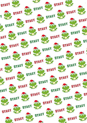 Frog Personalized Christmas Gift Wrap - Potter's Printing