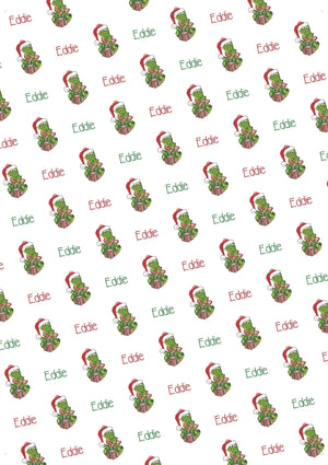 Gator Personalized Christmas Gift Wrap - Potter's Printing