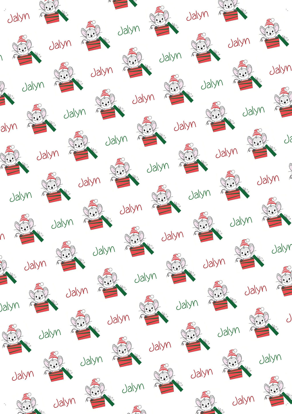 Christmas Mouse Personalized Tissue Paper - Potter's Printing