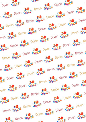 I Love Dance Personalized Birthday Tissue Paper - Potter's Printing