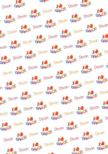 I Love Dance Personalized Birthday Gift Wrap - Potter's Printing