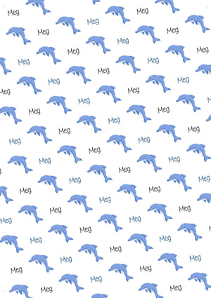 Dolphin Personalized Gift Wrap - Potter's Printing