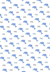 Dolphin Personalized Tissue Paper - Potter's Printing