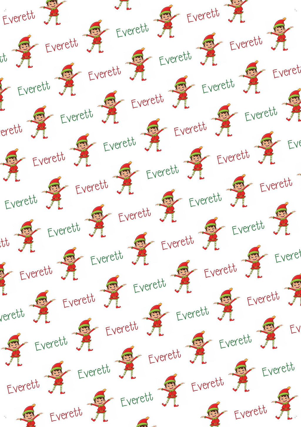 Elf Boy Personalized Christmas Tissue Paper