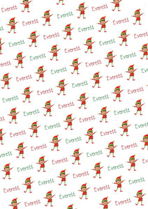 Elf Boy Personalized Christmas Gift Wrap - Potter's Printing