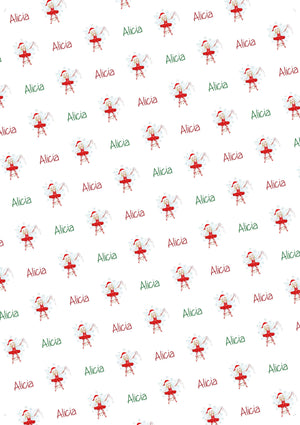 Christmas Fairy Personalized Gift Wrap - Potter's Printing