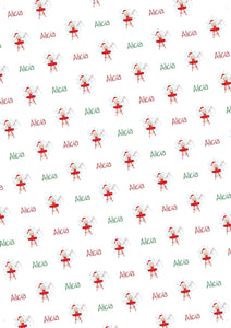 Christmas Fairy Personalized Gift Wrap