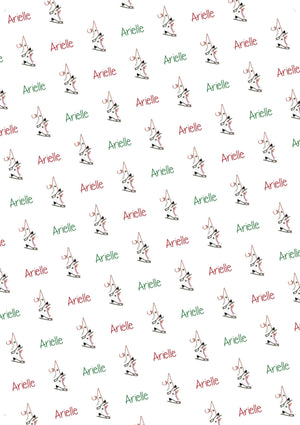 Figure Skates Personalized Christmas Tissue Paper - Potter's Printing