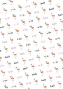 Flamingo Personalized Birthday Tissue Paper - Potter's Printing