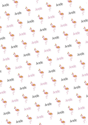 Flamingo Birthday Personalized Gift Wrap - Potter's Printing