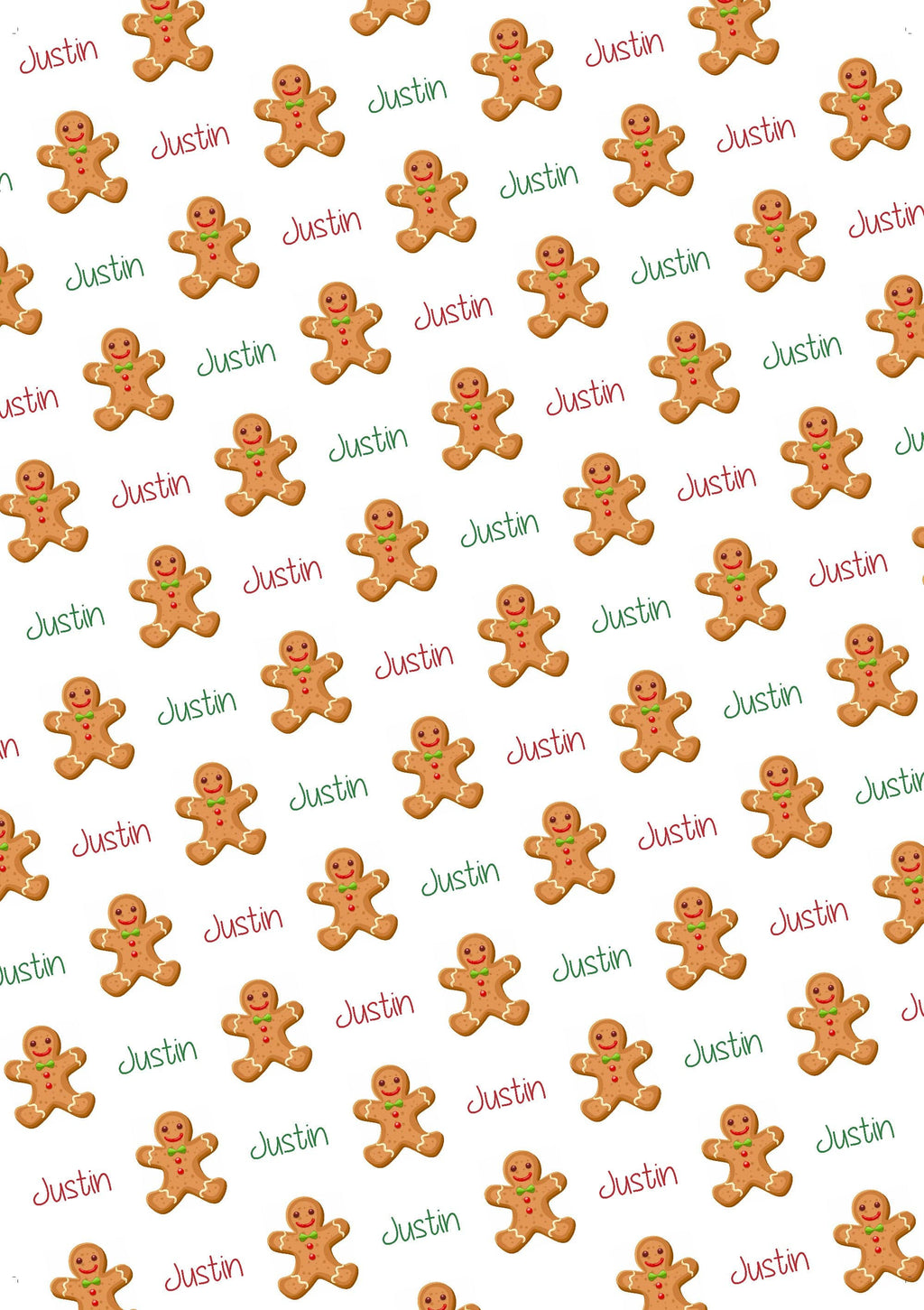 Gingerbread Boy Personalized Gift Wrap - Potter's Printing