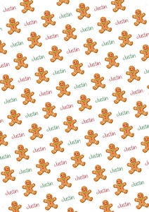 Gingerbread Boy Personalized Tissue Paper