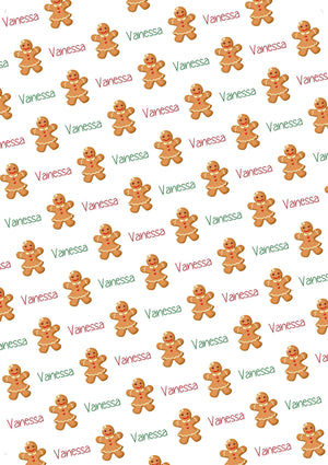 Gingerbread Girl Personalized Tissue Paper - Potter's Printing