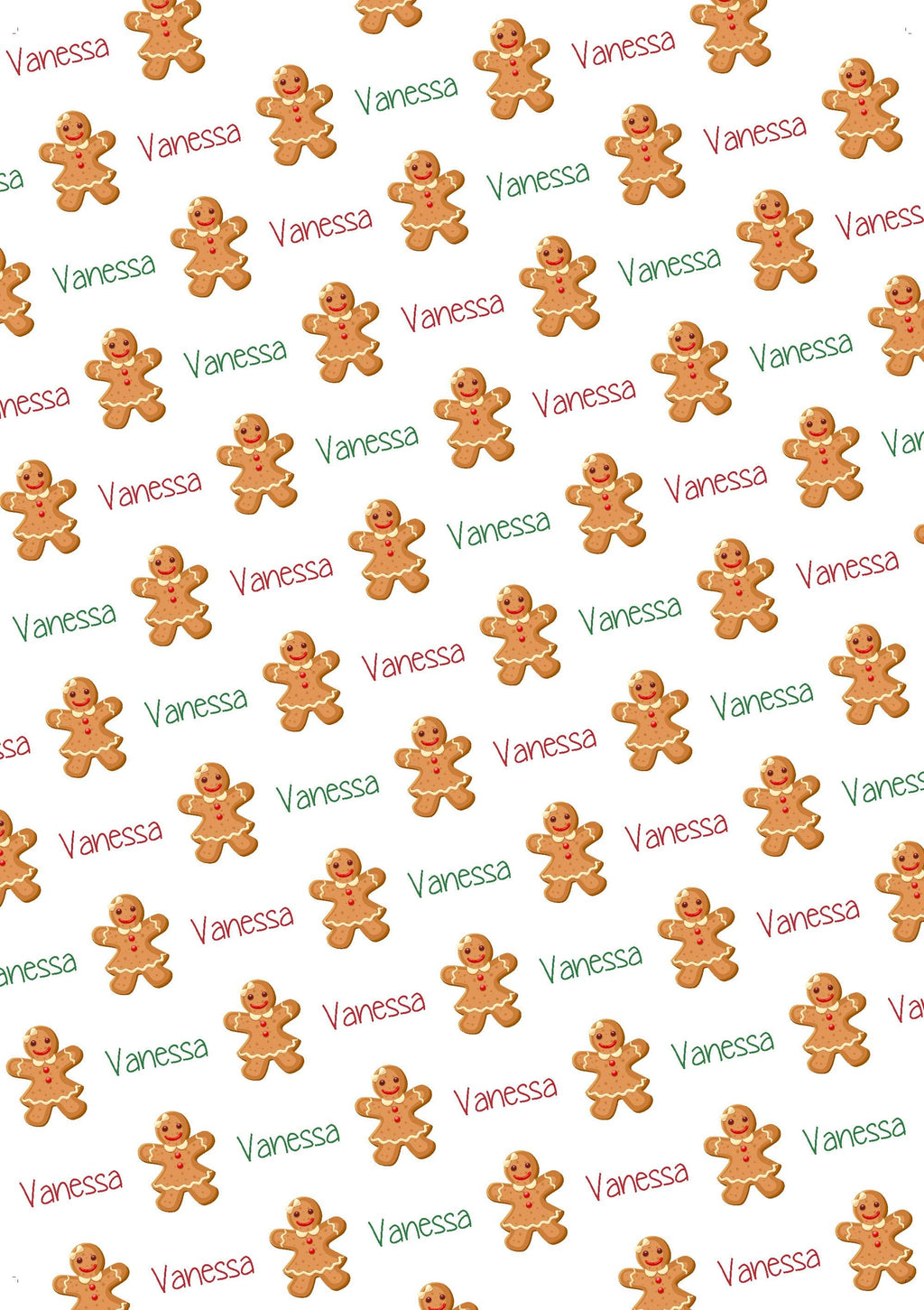 Gingerbread Girl Personalized Gift Wrap