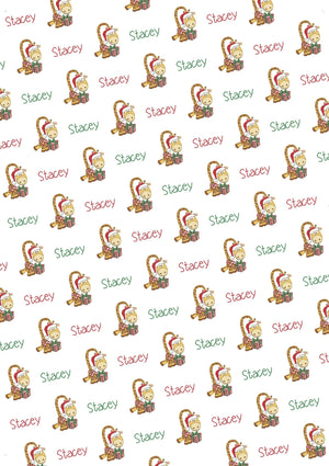 Giraffe Personalized Christmas Tissue Paper - Potter's Printing