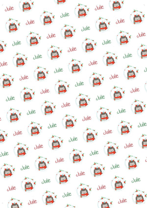 Hedgehog Personalized Christmas Tissue Paper - Potter's Printing