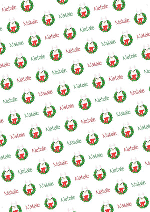 Llama Personalized Christmas Gift Wrap - Potter's Printing