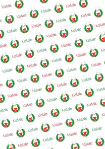 Llama Personalized Christmas Tissue Paper