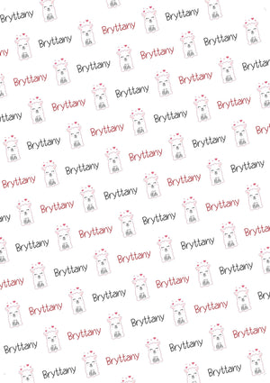 LLama Personalized Valentine Tissue Paper - Potter's Printing