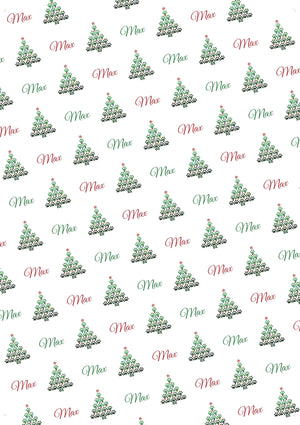 Christmas Paw Tree Personalized Gift Wrap - Potter's Printing