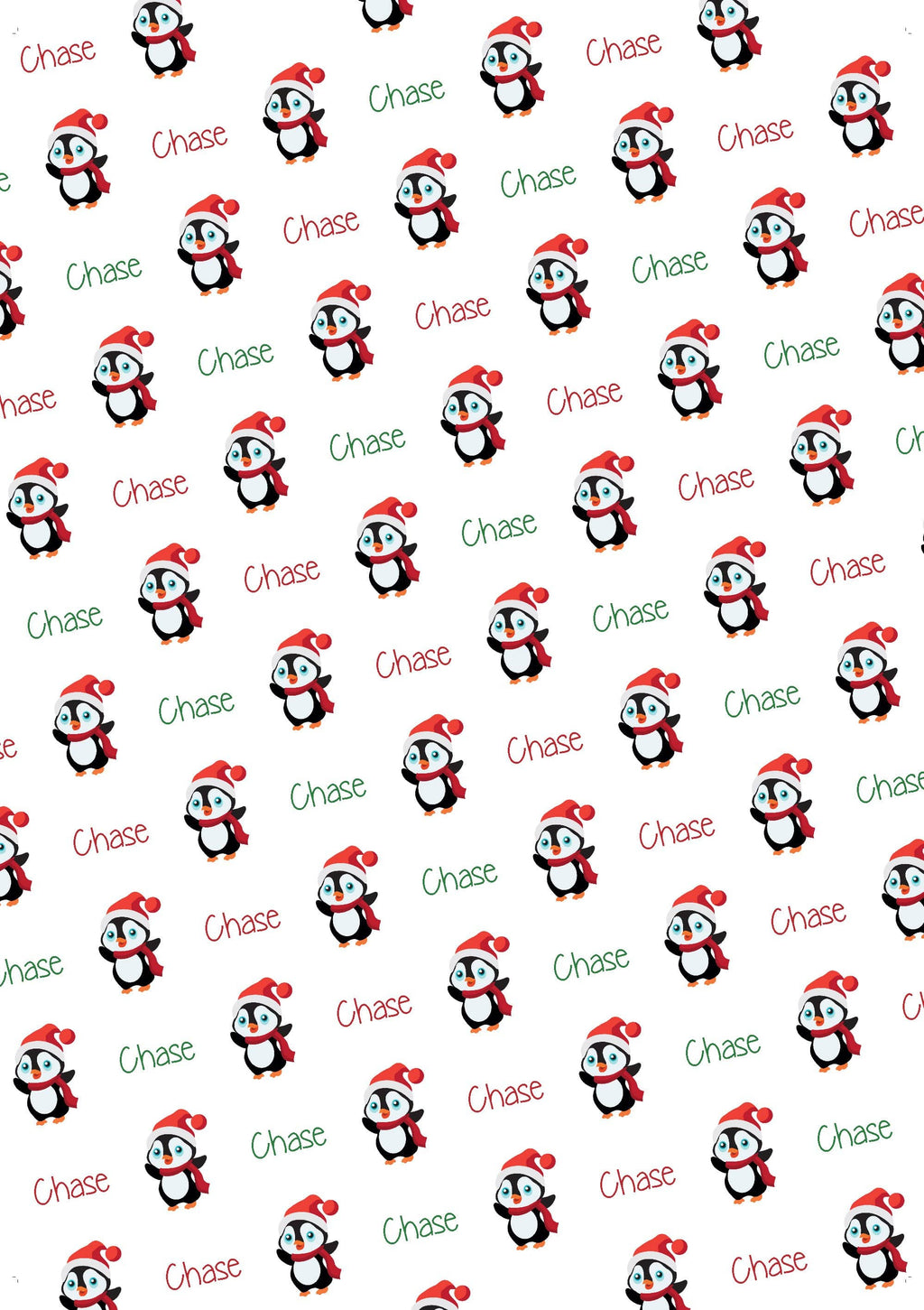 Penguin Personalized Christmas Tissue Paper