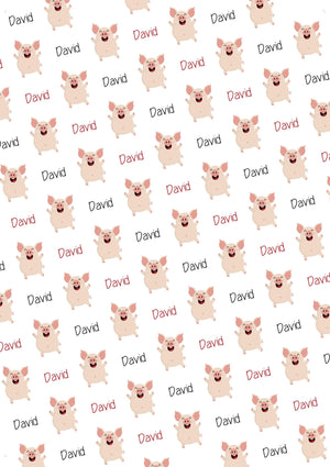 Pig Personalized Birthday Tissue Paper - Potter's Printing