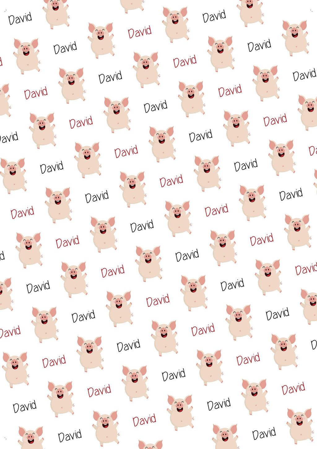 Pig Personalized Birthday Gift Wrap - Potter's Printing