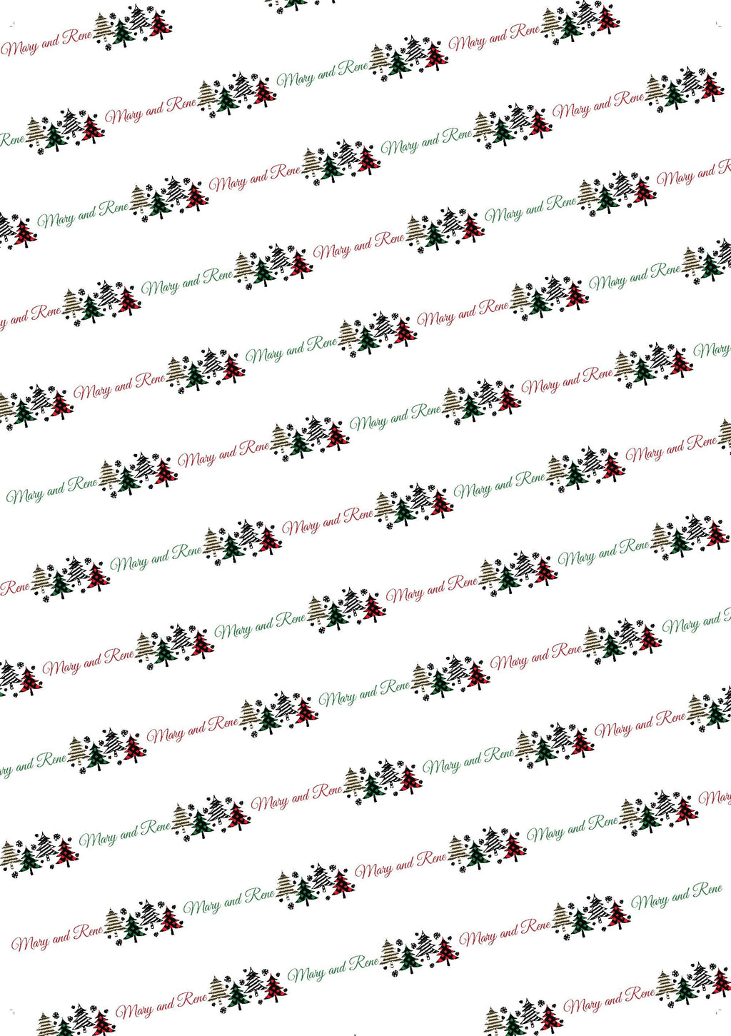 Trees Personalized Christmas Tissue Paper - Potter's Printing
