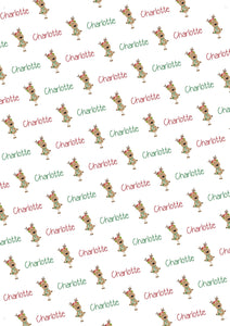 Reindeer Personalized Gift Wrap