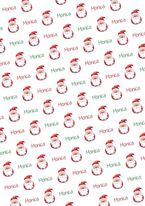 Santa Personalized Tissue Paper - Potter's Printing