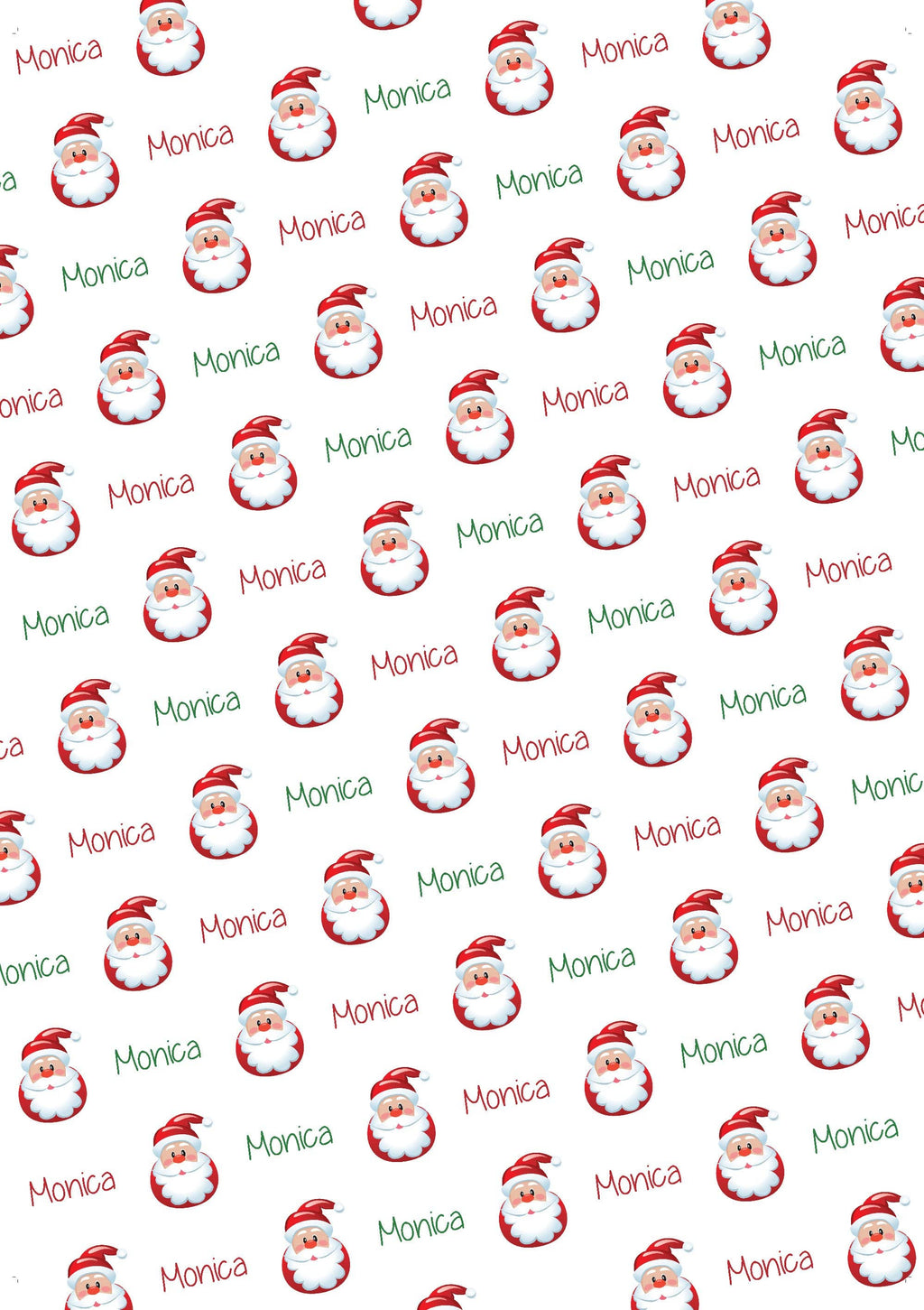 Santa Personalized Gift Wrap - Potter's Printing