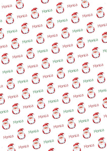 Santa Personalized Gift Wrap