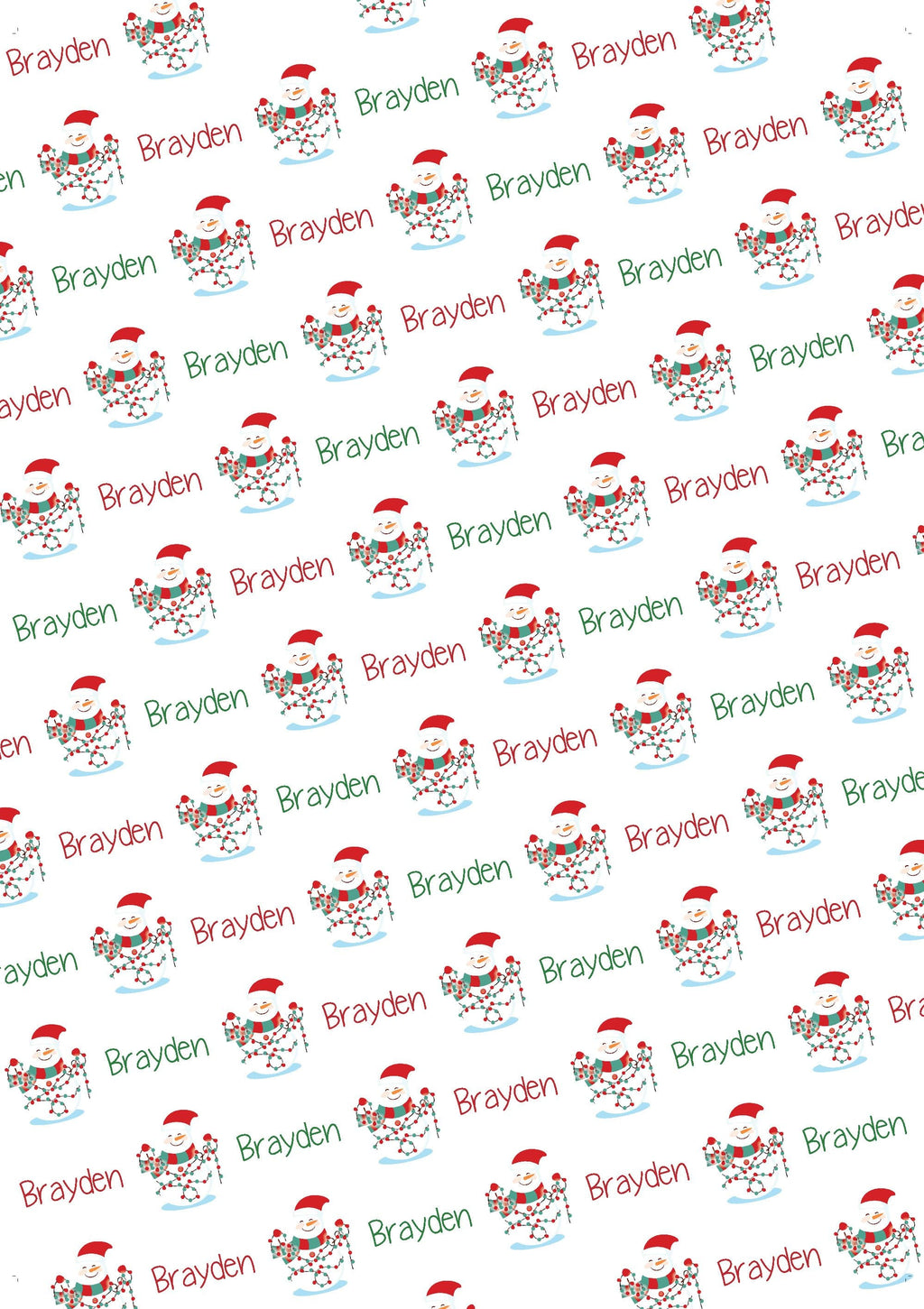 Snowman Personalized Gift Wrap - Potter's Printing