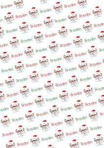 Snowman Personalized Gift Wrap