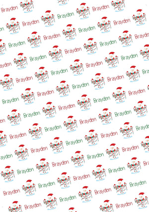 Snowman Personalized Tissue Paper - Potter's Printing
