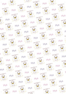 Some Bunny is One Personalized Birthday Gift Wrap - Potter's Printing