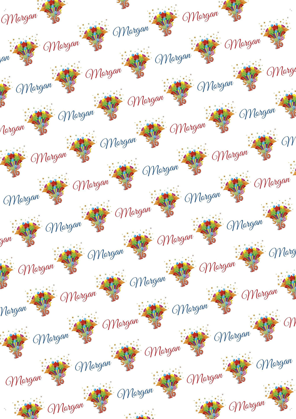 Sweet 16 Personalized Birthday Gift Wrap - Potter's Printing
