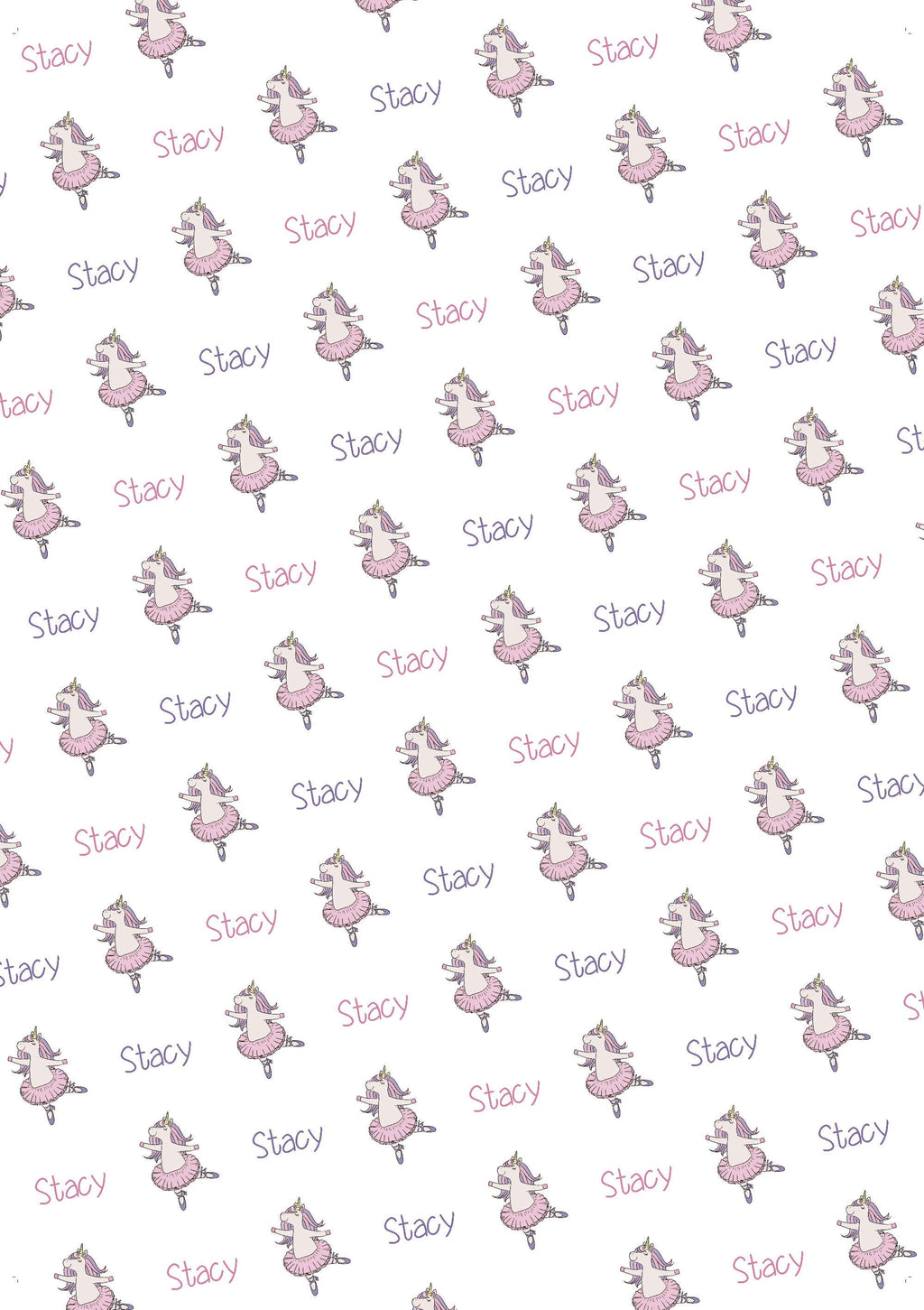 Unicorn Personalized Gift Wrap