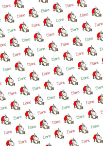 Unicorn Personalized Christmas Tissue Paper