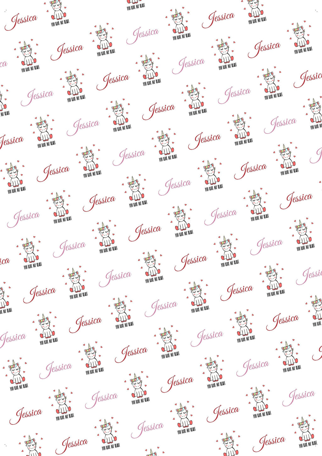Unicorn Personalized Valentine Tissue Paper